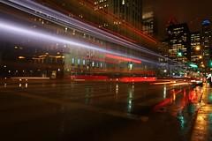 Chicago at Night (Waterjoe) Tags: citylights city lights rain rainy eos canoneos6dii sigmaart sigma longexposure nightlights night amerika usa chicago canon