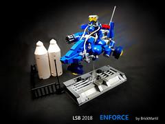 LSB 2018 Enforce -  with stand (Brick Martil) Tags: toy lego speeder bike 2018 lsb futuristic modern flyer sci fi