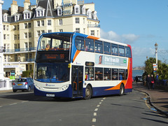 STAGECOACH 19668 - SP60DTO - EASTBOURNE PIER - FRI 16TH FEB 2018 (Bexleybus) Tags: south coast sussex eastbourne pier seaside stagecoach adl dennis enviro 400 route 99 wave 19668 sp60dto scania