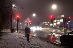 A41 Edgware Way (snow), Edgware (LFaurePhotos) Tags: londonboroughofbarnet londonbynight snow streetsoflondon a41 edgware lfaurephotos