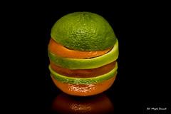 Macro monday - Citrus (Magda Banach) Tags: canon canon80d sigma150mmf28apomacrodghsm blackbackground colors green lime macro macromondays mandarin slices tangerine citrus