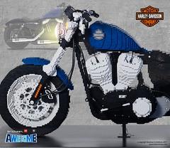 LEGO® brick Harley-Davidson 2018 48 motorcycle side (TheBrickMan) Tags: lego brickmansydney brickman awesome harleydavidson motorbike motorcycle forty eight life size
