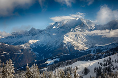 Mont Blanc (tagann) Tags: montagne mountain neige snow sky ciel cloud nuage pin tree montblanc ski megeve station
