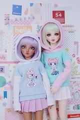Minifee Chloe & Unoa Lusis (Cyristine) Tags: bjd doll clothing sewing handmade kawaii pastel minifee unoa