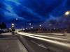 Huye la luz (la_magia) Tags: calle carretera luces noche contrucciones gruas urbana madrid espaã±a españa
