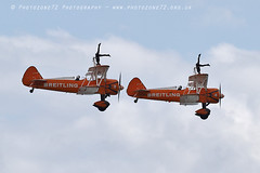 6351 Breitling Wingwalkers (photozone72) Tags: aviation airshows aircraft eastbourne airshow props canon canon7dmk2 canon100400f4556lii 7dmk2 breitlingwingwalkers breitling wingwalkers stearman boeing biplane