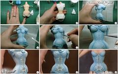 Corset painting (kularien) Tags: kcdoll kularien kulariencustomdoll corset art artistdoll artistbjd painting figure sculpture