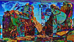 Zwiegespraech 01h abstrakt skulptural (wos---art) Tags: bildschichten zwiegespräche dialog kommunikation auseinandersetzung beziehung gespräch unterhaltung gott god begegnung meeting