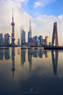 Reflections of Pudong, Shanghai, China