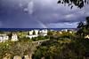 Panorama view of Protaras &  Mediterranean - Cyprus. (hanna_astephan) Tags: protras cyprus landscapes travel prophetelias cloudysky bluesea rainbow mediterranean