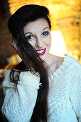 Smile :D  Elodie : Portrait : Nikon D700 : Nikkor 50 mm F1.4 AFD : Cosy : Warm : Winter portrait (Benjamin Ballande) Tags: smile d elodie portrait nikon d700 nikkor 50 mm f14 afd cosy warm winter