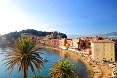 The Colors of Liguria (Luigia80 (Pat)) Tags: sestrilevante baiadelsilenzio liguria mare blu azzurro cielo case colori colors luci light house