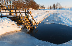 A hole in the ice (makkus1996) Tags: hole ice water cold snow winter canon photography