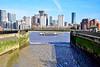 Greenland Dock (Geoff Henson) Tags: boat river water buildings dock swans mud walls sky 1000v40f