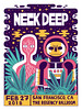 Neck Deep - Gig Poster (Jack Teagle) Tags: neckdeep gigposter punk poster deadastronaut ghost space star cosmic drawing