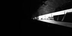 Triangle (elgunto) Tags: architecture people perspective museum museublau forum barcelona street urban wideangle blackwhite silhouette highcontrast shadows light monochrome sonya7 laea4 minoltaaf1735mmf284