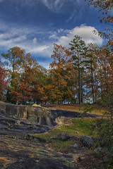 The Fall is Coming on the Rocks (Thomas Vasas Photography) Tags: nature landscapes travel scenics fall seasons rockscapes weather flatrockpark columbus georgia trees rocks