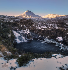 The Snows of Clishamanjaro (Impact Imagz) Tags: clisham harris isleofharris outerhebrides hebrideanlight hebridean hillwalking hills mountains snow winter winterscene winterlight westernisles scotland visitscotland moorland waterfall longexposure vertorama