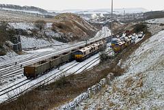 Ten Years Ago (whosoever2) Tags: railways trains ukrailways uk united kingdom gb great britain february 2008 nikon d80 train railway railroad peakforest ews dbs schenker snow winter class66 class60