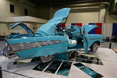 1957 Chevrolet BelAir (bballchico) Tags: 1957 chevrolet belair custom convertible lowrider cynthiacamarena gnrs2018 carshow trifive