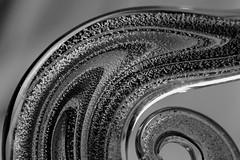Swirl in black&white (Lukkasia) Tags: macro monochrome macromondays venetianglass glass lines geometric 7dwf pattern closeup curves bw blackandwhite abstract beautifulrealm