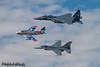 USAF Heritage Formation | Little Rock Air Force Base (M.J. Scanlon) Tags: jacksonville arkansas usa 890485 mcdonnelldouglasf15estrikeeagle mcdonnelldouglas f15e strikeeagle f15 923923 lockheedf16cfightingfalcon lockheed f16c fightingfalcon f16 falcon 524959 northamericanf86fsabre northamerican f86f sabre f86 531201 skyblazers fu201 n86fr n105bh usaf littlerockafb airpowerarkansasairshow sky fly flying spotting airport flight mojo scanlon digital canon camera photo photography photographer photograph picture capture image aircraft airplane aviation plane