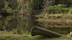 The dark pool (Englepip) Tags: water landscape canoe reflections trees deep dark southafrica