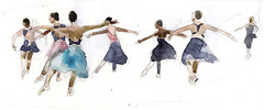 Scottish Ballet (Wil Freeborn) Tags: scottish ballet watercolour watercolor