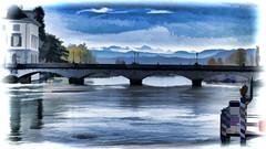 zh_024_11102017_11'54 (eduard43) Tags: zürich wasserfarben watercolor 2017 münsterbrücke brücke bridge wasserkirche limmat fluss river