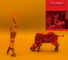 The Jungle (Tony Koppers) Tags: origami bull cow axe man jungle upton sinclair