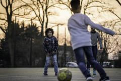 Evening soccer (Sjaco Manuputty) Tags: soccer football evening eveninglight kids children child sky colors playground sunset sun eveningsun playing