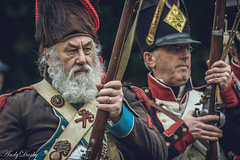 Commandery-1-19 (Andy Darby) Tags: worcester worcestercommandery napoleonic reenactment musket muskets firing uniform black powered infantry war beard axe
