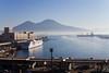 Napoli (dianemoinet) Tags: naples napoli napule mer sea sky ciel bleu canon 550d 35mm italie italia italy campanie campania campany bateau boat vésuve vesuvio volcan vulcano montagne