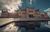 Reflections of the Parliament (Vagelis Pikoulas) Tags: parliament budapest pest hungary travel photography landscape city cityscape landmark canon 6d tokina 1628mm view water reflection reflections europe sky clouds sun sunshine sunset sunburst september autumn 2017