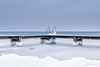 Arctic jetty! (karindebruin) Tags: thenetherlands nederland nd09hardgrad littlestopper leefilters zuidholland goereeoverflakkee ouddorp snow sneew ijs ice water jetty steiger divingladder