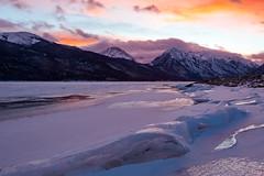 Twin Lakes sunset1 (fotoshane) Tags: colorado twin lakes landscape twinlakes twinlakescolorado highcountry mountain rockymountains leadville ice fotoshane winter purple sunset snow water frozen