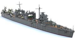 Japanese seaplane carrier Nisshin (Thunderflare.) Tags: nisshin ijn navy lego ldd bluerender japan