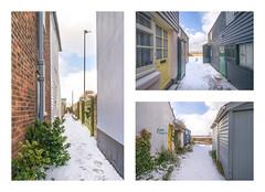 Whitstable alleyways (Aliy) Tags: whitstable kent winter wintery wintry snow snowy alley alleys alleyway alleyways
