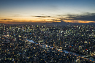 A Colorful Dusk over Tokyo