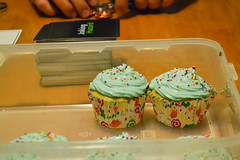 Cupcakes at Game Night (Vegan) (Vegan Butterfly) Tags: vegetarian vegan food yummy tasty delicious cupcakes dessert snack game night frosting icing sprinkles baked baking