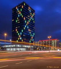 Helix building Arnhem-Presikhaaf (part 2) (www.petje-fotografie.nl) Tags: arnhem bluehour gelderland lle ptjefotografie presikhaaf bluaweuur langesluitertijd