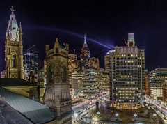 Nightlife - Philadelphia (Brentg33) Tags: ifttt 500px city downtown travel night buildings outdoor urban architecture cityscape panorama skyline nightlife sony alpha long exposure panoramic outdoors philadelphia philly lights hall exploration nightscape center phila