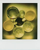 untitled (kaumpphoto) Tags: polaroid 680 instant cups glass sink metal drain yellow green center round circle