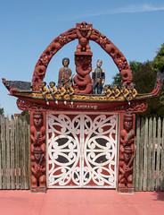 20180128_8922_EOS M-32 Nga Hau E Wha National Marae entrance gate (028/365) (johnstewartnz) Tags: 028365 day028 day28 canon canonapsc apsc eos eosm evil tlp efm1855mmf3556isstm 1855mm 1855 marae maori ngahauewha ngahauewhanationalmarae carving maoricarving onephotoaday oneaday onephotoaday2018 365project project365 teamorangi