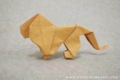 17/365 Lion by James Sakoda (origami_artist_diego) Tags: origami origamichallenge 365days 365origamichallenge lion