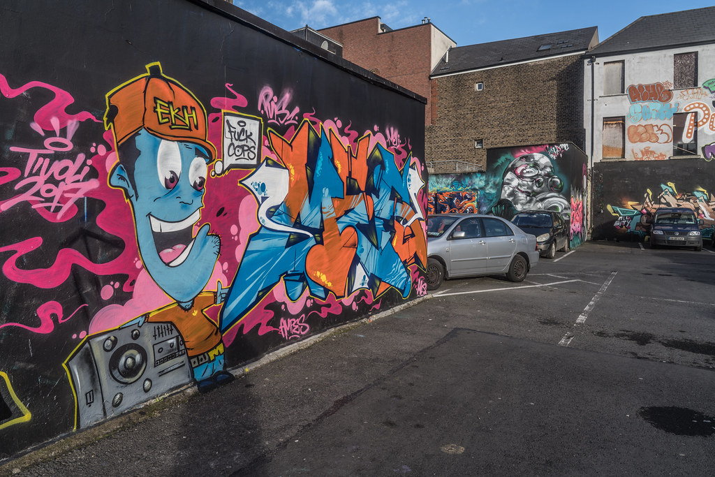 STREET ART AT THE TIVOLI CAR PARK IN DUBLIN [LAST CHANCE BEFORE THE SITE IS REDEVELOPED]-135654