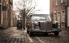 Rainly Preston.. (stetoppingphoto) Tags: mercedes 280se classic car preston lancashire photography zeiss carl sonnar sony a7 alpha cobbles street benz merc
