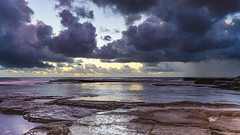 Overcast and Cloudy Sunrise Seascape (Merrillie) Tags: daybreak theskillion nature water terrigal nsw rocky sea clouds newsouthwales rocks earlymorning morning landscape centralcoast ocean australia sunrise waterscape coastal outdoors sky seascape dawn coast cloudy waves