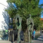 Adam & Eve ashamed and banished from paradise, Sculpture by Jakov Brdar, Ljubljana thumbnail
