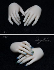 Selene's Nails (Puppet Tales Dolls) Tags: ooak ooakdoll doll repaint dollrepaint custom customization color nails nailart acrilycnails bjd balljointeddoll sia fairyland siafairyland